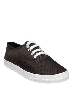 Nell Dark Brown & White Sneakers