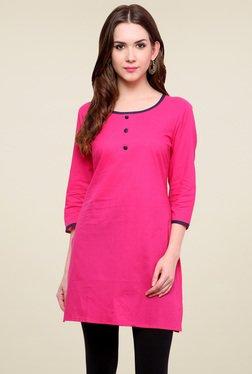 Pannkh Hot Pink Round Neck Kurti