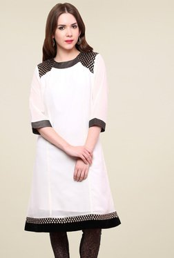 Pannkh Off-White Regular Fit Kurti