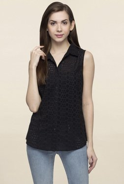 Oxolloxo Black Lace Shirt