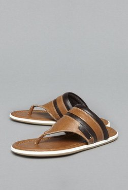 Azzurro by Westside Tan Thong Sandals