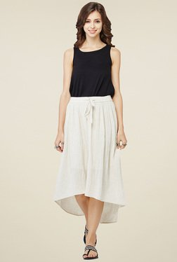Global Desi White High-Low Skirt