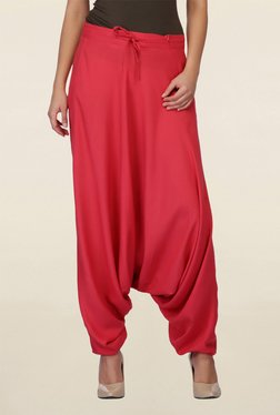 Mineral Red Solid Crotch Pant