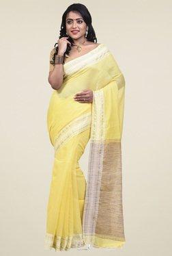 Bengal Handloom Yellow Cotton Silk Saree