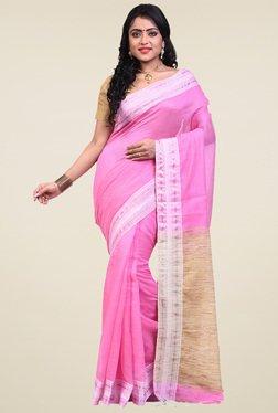 Bengal Handloom Pink Cotton Silk Saree