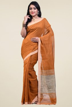 Bengal Handloom Mustard Cotton Silk Saree - Mp000000001276453