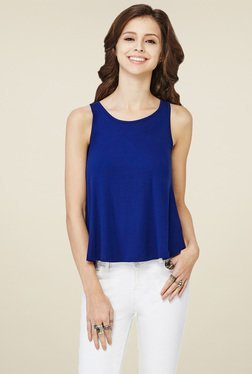 Global Desi Royal Blue Regular Fit Tank Top