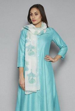 Zuba By Westside Blue Floral Print Dupatta