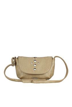Lavie Trim Gold Studded Flap Sling Bag