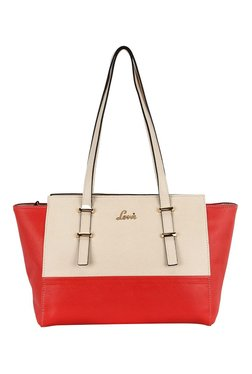 Lavie Bignay Cream And Red Trapeze Bag