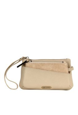 Lavie Lona Mup Beige Wristlet With Removable Coin Purse