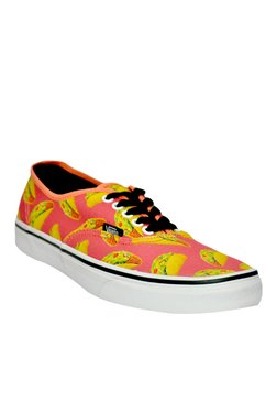 Vans Authentic Coral Pink & Yellow Sneakers