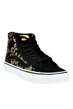 Vans SK8 Black & Golden Ankle High Sneakers