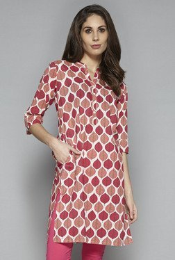 Utsa By Westside Peach Printed Kurta
