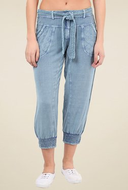 Free & Young Light Blue Mid Rise Joggers