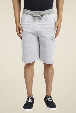 Proline Grey Striped Regular Fit Shorts
