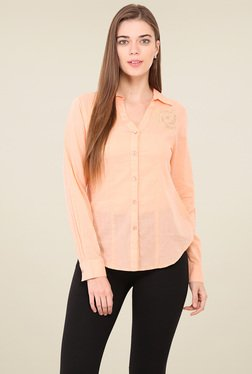 Free & Young Peach Comfort Fit Shirt