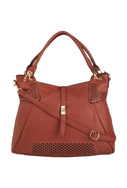 Vero Couture Cinnamon Brown Shoulder Bag With Pouch