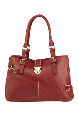 Vero Couture Red Twist-Lock Shoulder Bag