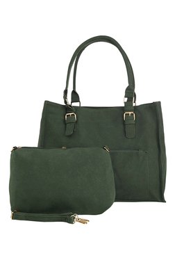 Vero Couture Green Solid Shoulder Bag With Pouch