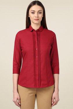 Park Avenue Maroon Regular Fit Shirt