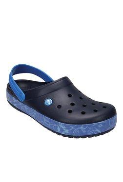 Crocs Crocband Navy Blue Back Strap Clogs