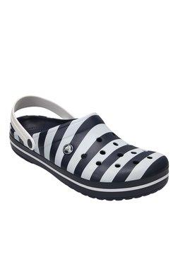Crocs Crocband Navy & White Back Strap Clogs