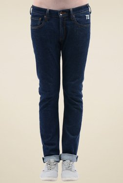 Pepe Jeans Dark Blue Slim Fit Mid Rise Jeans
