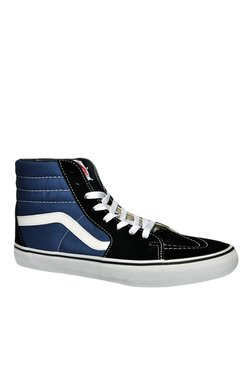 Vans SK8-HI Black & Navy Ankle High Sneakers
