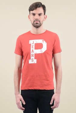 Pepe Jeans Coral Cotton Printed T-Shirt