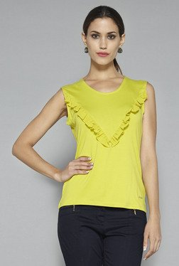 Wardrobe By Westside Lime Green Solid Top