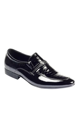 Pavers England Patent Black Formal Slip-Ons
