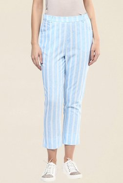 109 F Blue & White Stripes Pant