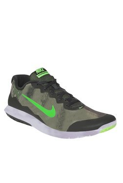 Nike Flex Experience Rn 4 Prem Black & Green Running Shoes