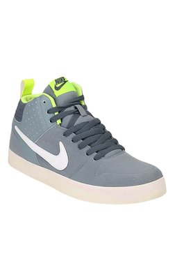 Nike Liteforce III Grey & White Ankle High Sneakers