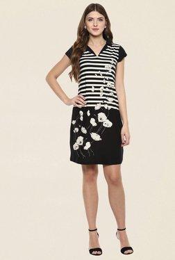 109 F Black Striped Dress