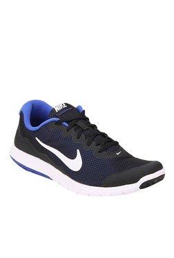 b26875765636 Nike Flex Experience Rn 4 Black   Blue Running Shoes