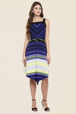 109 F Purple Striped Dress