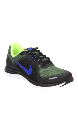 Nike Dual Fusion X 2 Black & Green Running Shoes