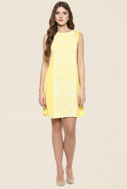 109 F Yellow Printed Dress