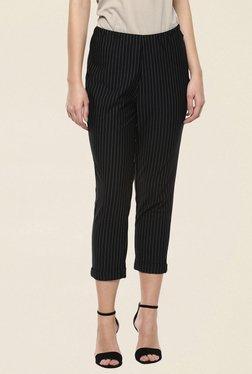 109 F Black Striped Pants