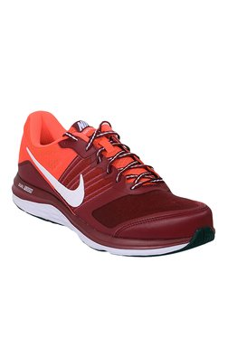 Nike Dual Fusion X MSL Maroon & White Running Shoes