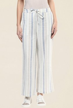 109 F Off White Striped Pant