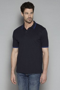 Westsport By Westside Black Relaxed Fit Polo T Shirt