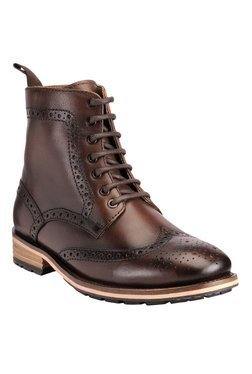 Teakwood Leathers Dark Brown Brogue Boots