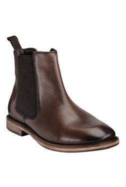 Teakwood Leathers Dark Brown Chelsea Boots