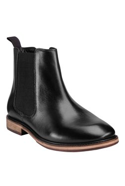 Teakwood Leathers Black Chelsea Boots