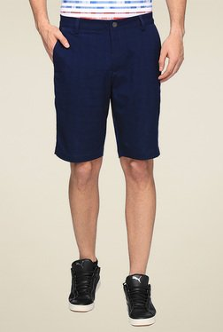 Puma Navy Regular Fit Shorts