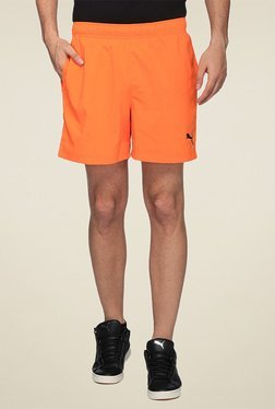 Puma Orange Regular Fit Shorts