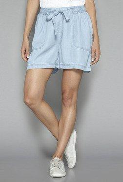 LOV By Westside Light Blue Tashi Shorts